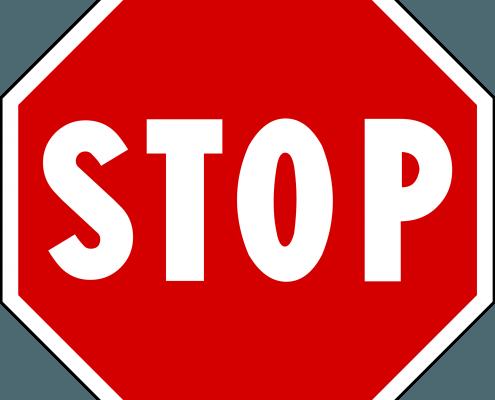 stop aanmaningen
